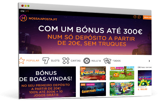 Casino Nossa Aposta - Slot machines, roleta e Blackjack online