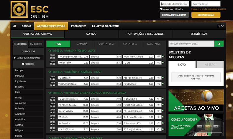 ESC Online apostas desportivas