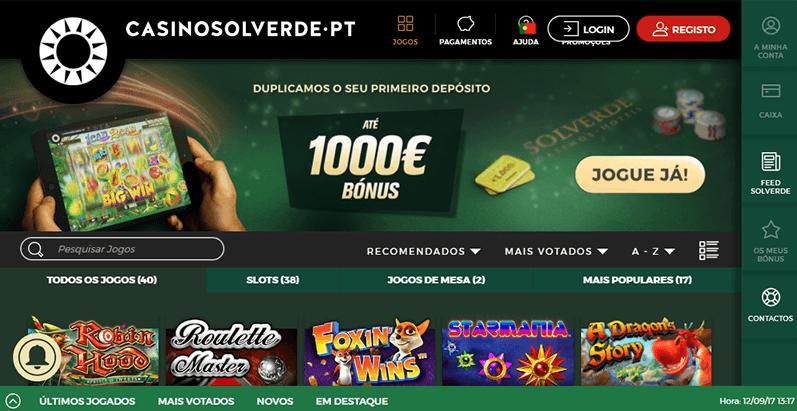 CasinoSolverde.pt é o mais novo site licenciado em Portugal