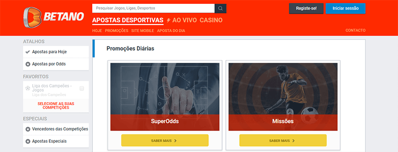 Super Odds Betano
