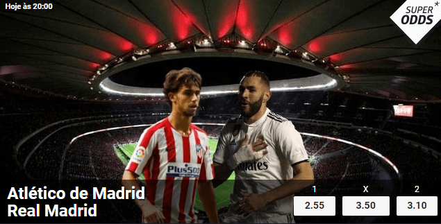 Atlético de Madrid – Real Madrid: live stream e Super Odds