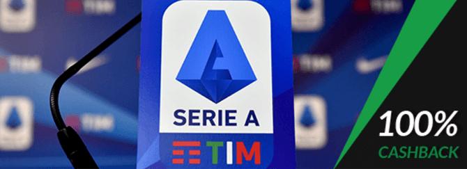 Cashback ESC Online nos jogos grandes da Liga Italiana