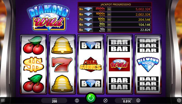 Slot Diamond Wild no Casino Betano