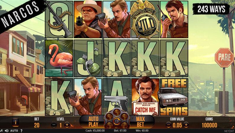 Narcos, uma slot machine da Netent