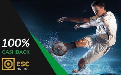 ESC Online Cashback: 100% de retorno em freebet