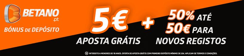 Bónus duplo na Betano com aposta grátis de 5€